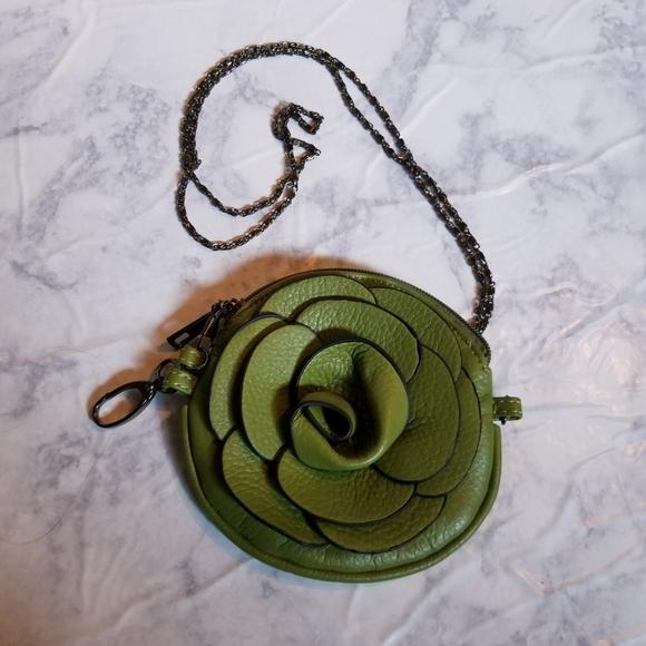 Handbags - Flower Mini Bag Purse Chain Wallet Green Small